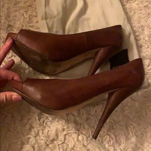 Dolce Vita Shoes - Dolce vita brown leather heels (altered)